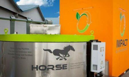 HORSE: LA MÁQUINA QUE CONVIERTE BASURA ORGÁNICA EN ELECTRICIDAD Y ABONO